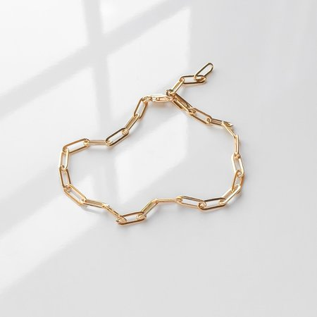 Thatch Finn Chain Anklet - Gold