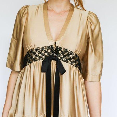 Anna Molinari Midi Dress - Beige