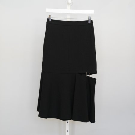 Tibi Anson Skirt With Cut Out Hem