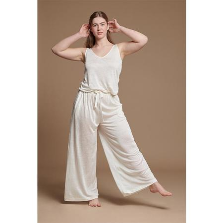 About Poema Linen Top - Ivory White