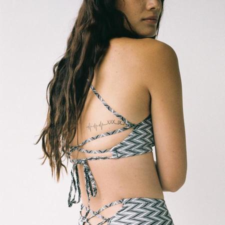 Lonely Dita Tie Back Bikini Top - Zig Zag