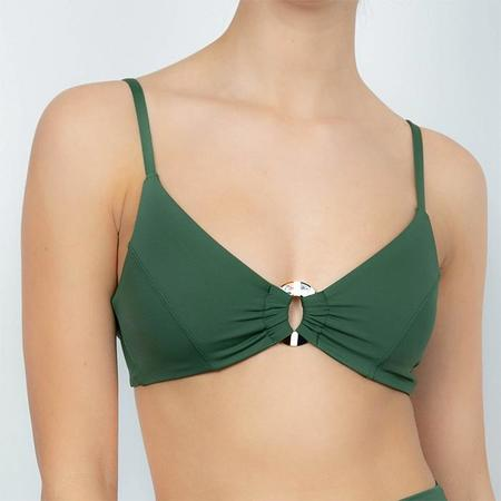 Palm Leora Bikini Top with Ring - Savannah