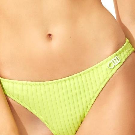 Solid & Striped Rachel Bikini Bottom - Chartreuse Rib