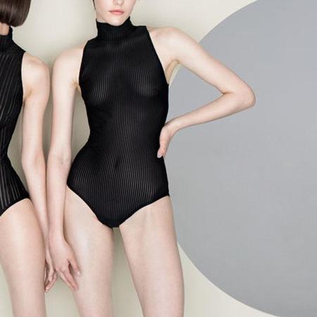 Undress Code Be Loud Sleeveless Bodysuit - Black