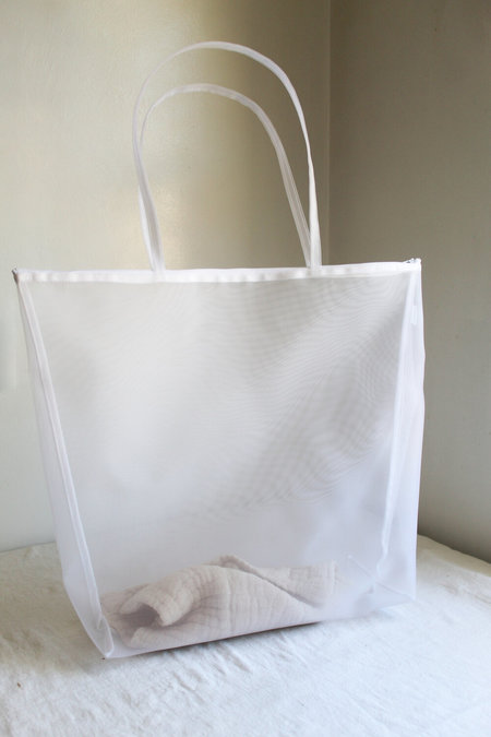 Walker Bags Beach Tote - White