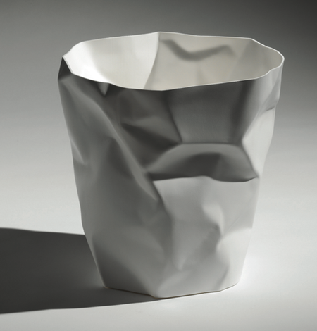Essey Crumpled Waste Basket - White