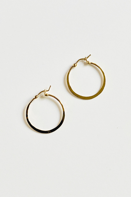 Shana Lee Slim Nana Hoop - Yellow Gold