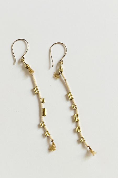 Satomi Studio Transition Earrings - Cream/Gold