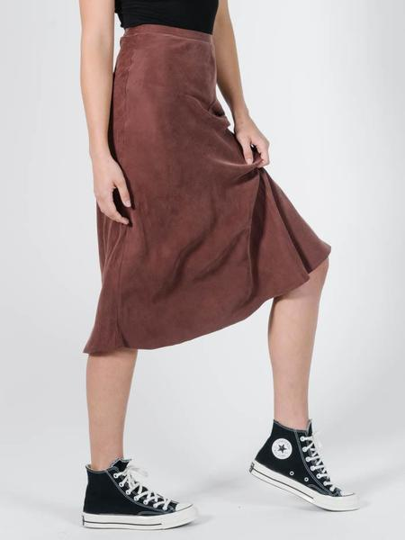 Thrills Kiri Bias Skirt - Brown