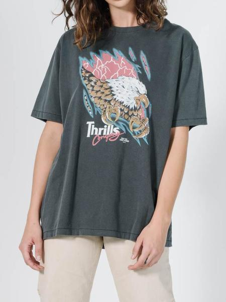 Thrills Torn Merch Tee - Black