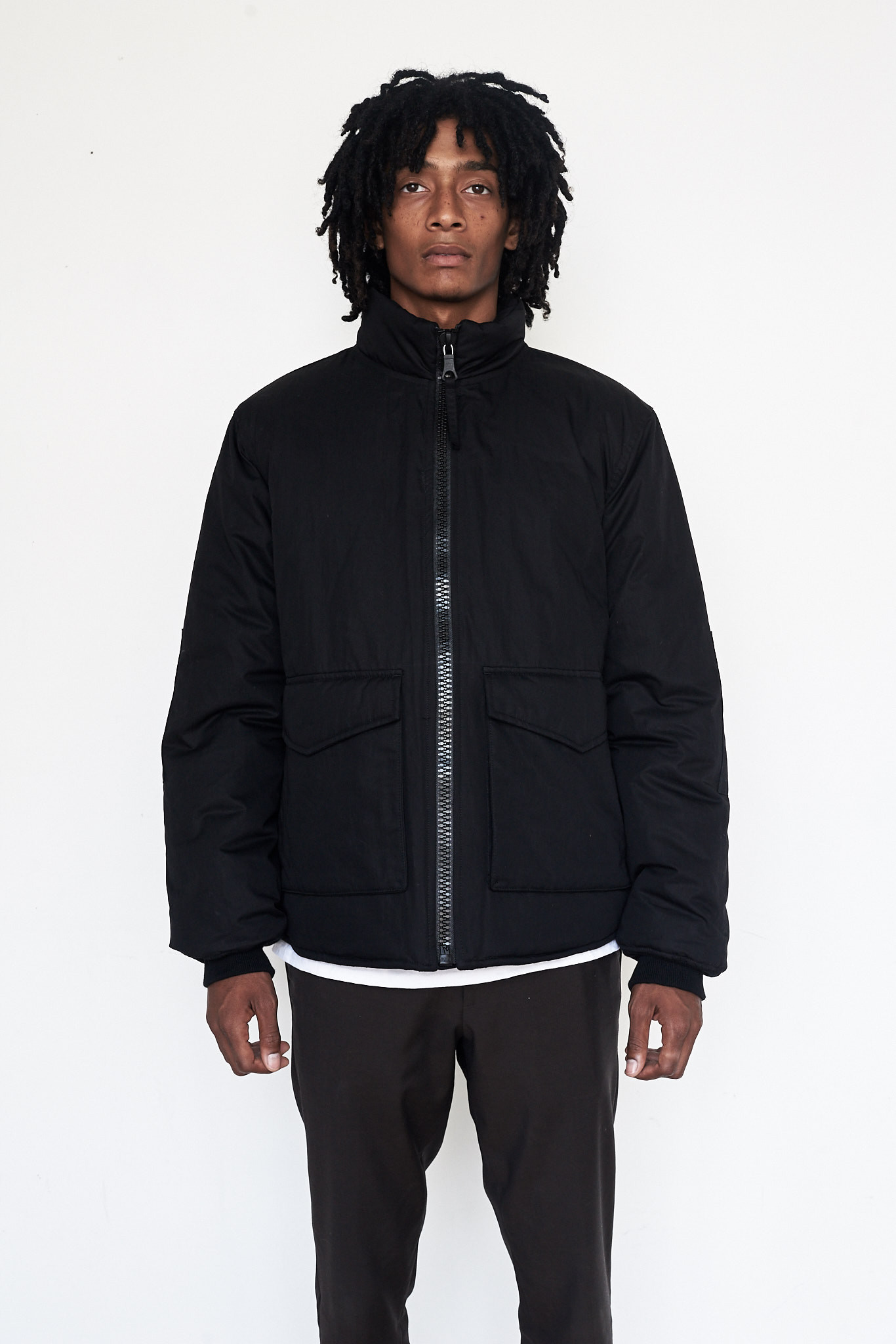 Men S Our Legacy Cotton Puffed Funnel Jacket Garmentory