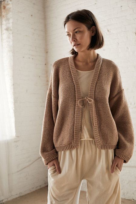Wol Hide Box Cardigan - Earthy Lilac