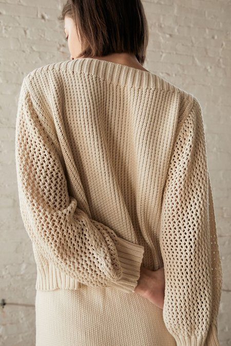 Wol Hide Boatneck Pullover - Natural
