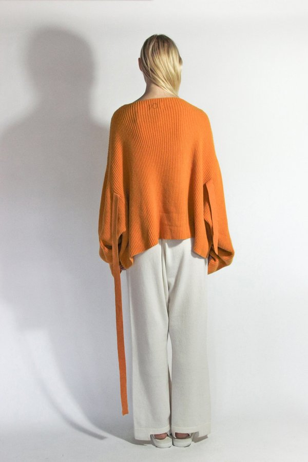 Oyuna Knitted Elbow Strap Cashmere Pullover - Honey