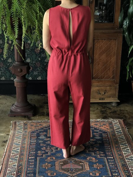 Ali Golden Slit-Back Jumper - Raspberry