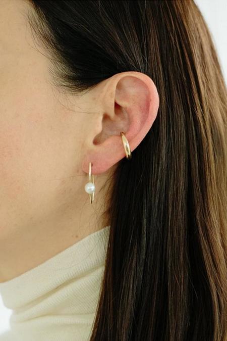 Gabriela Artigas Single Infinite Tusk Earring with Pearl - 14k Gold