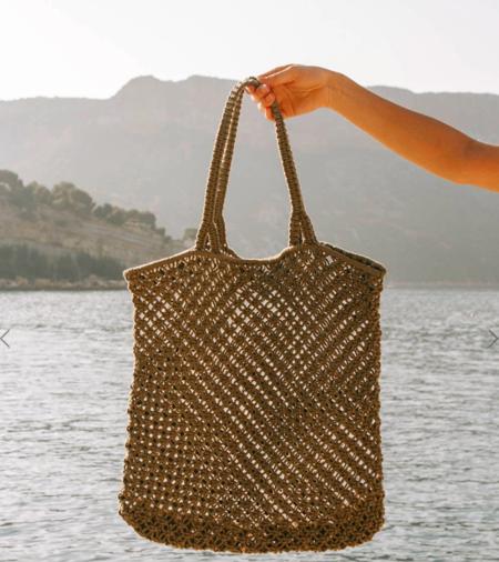 The Beach People Macrame Tote Bag - Khaki