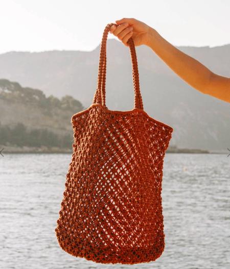 The Beach People Macrame Tote Bag - Rust