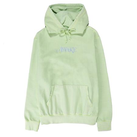 Awake NY Embroidered Logo Pullover Hoodie - Light Green