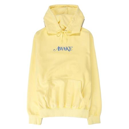 Awake NY Embroidered Logo Pullover Hoodie - Light Yellow