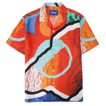 Awake NY x Sam Friedman Silk Camp Shirt - Print