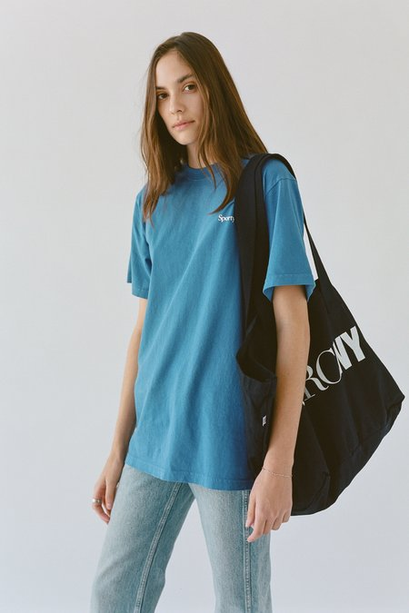 Sporty & Rich Health is Wealth t shirt - lapis/white