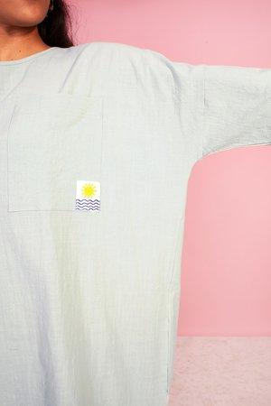 L.F.Markey Basic Linen Sack Dress - Mint