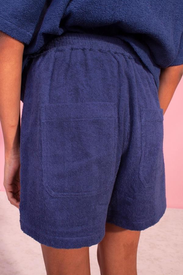 L.F.Markey Basic Towelling Shorts - Navy