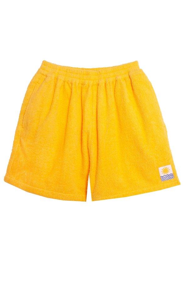 L.F. Markey Basic Towelling Shorts - Sunflower