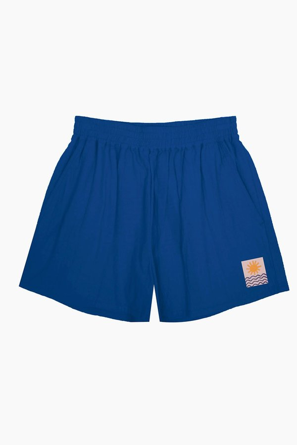 L.F. Markey Basic Linen Shorts - Cobalt