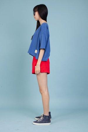 L.F. Markey Basic Linen Shorts - Red