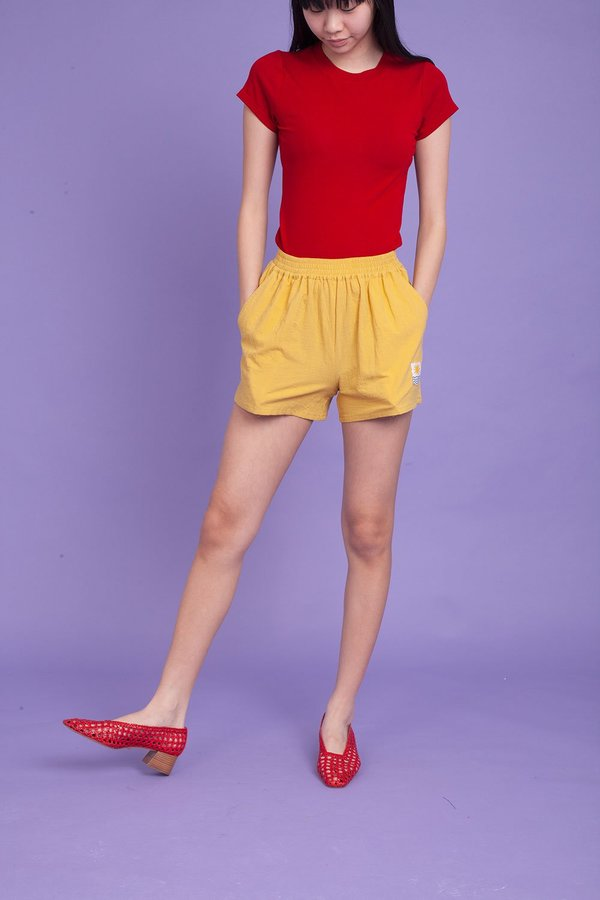 L.F. Markey Basic Linen Shorts - Saffron