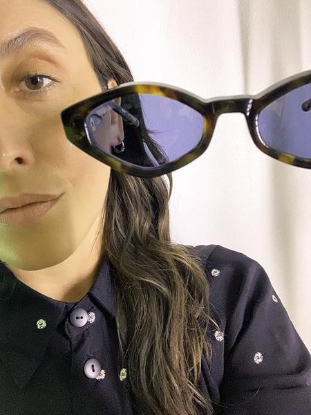 Unisex Vada Siren Eyewear - Ochiba Tortoise/Blue Lens