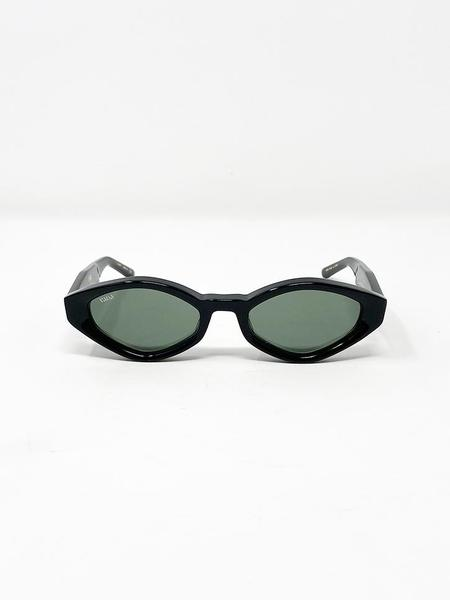 Unisex Vada Siren Eyewear - Onyx/Vintage Green Lens