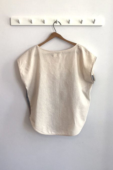 Ursa Minor Studio Pocket Top - Ivory Cloud
