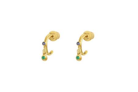 Marie Laure Chamorel Earrings - Gold/Green