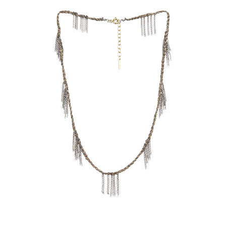 Marie Laure Chamorel Ruthenium Lurex Necklace - Gold