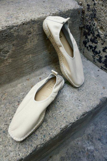 ACT SERIES Slipper Espadrilles - Off White