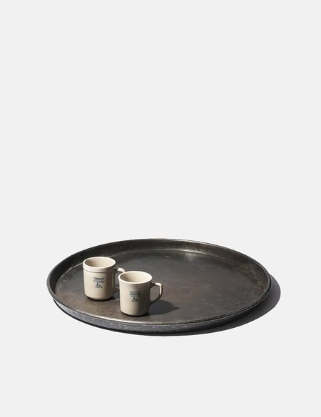 Puebco Vintage Round Tray (Large) - Steel