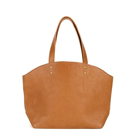 Moore & Giles Welden Leather Tote - Virginia Natural/Olive