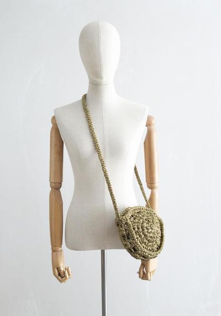 Maria La Rosa Arnica Irise Crochet Bag - Gold