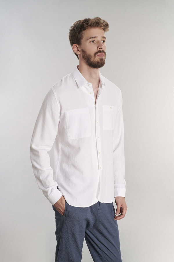 Delikatessen Crepe Cotton Shirt - White