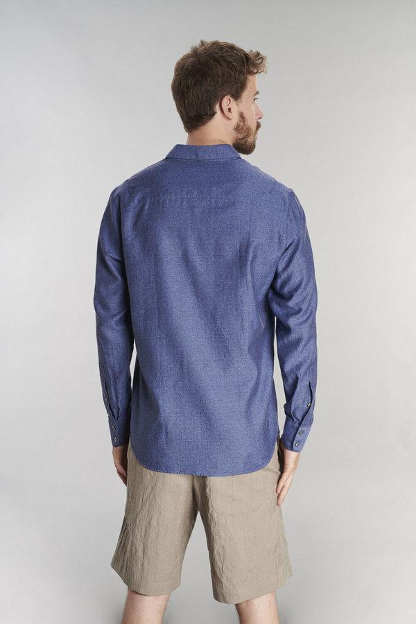 Delikatessen Feel Good Cotton Shirt - Navy