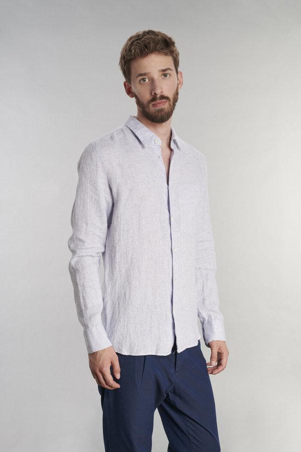 Delikatessen Feel Good Linen Shirt - Light Blue