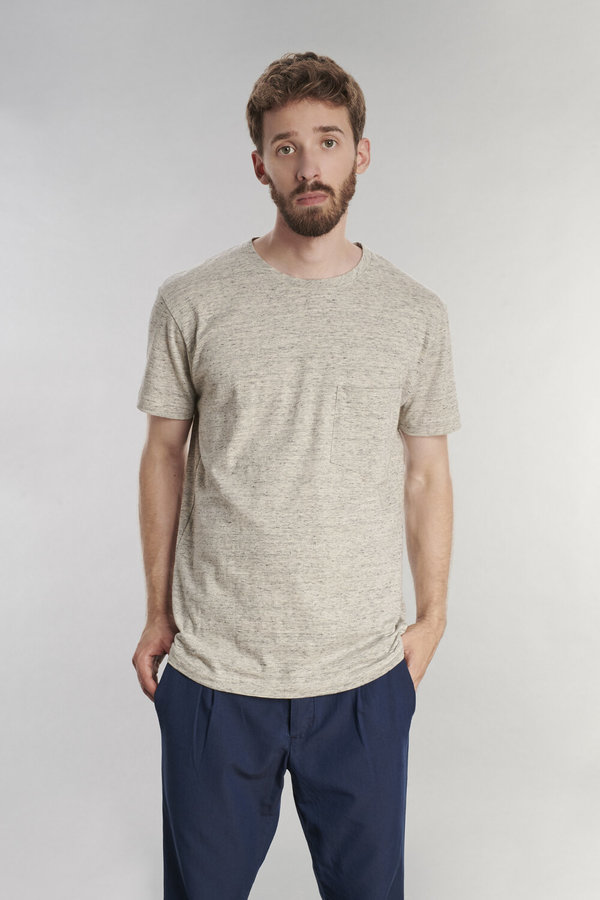Delikatessen Japanese Cotton T-Shirt - Light Grey