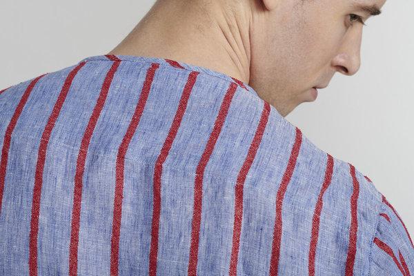 Delikatessen  Italian Linen Long Sleeve Shirt - Stripe