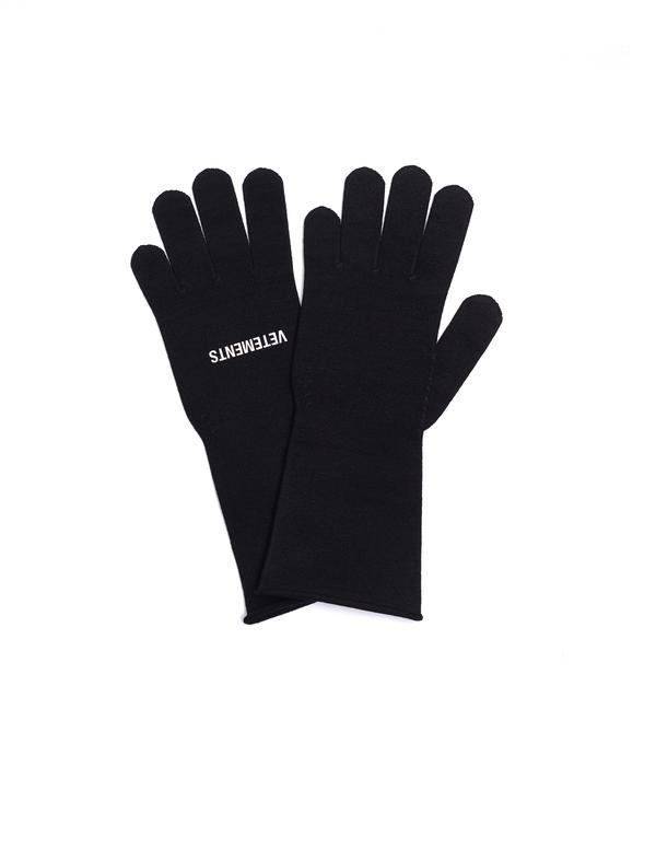 Vetements Logo Gloves - Black