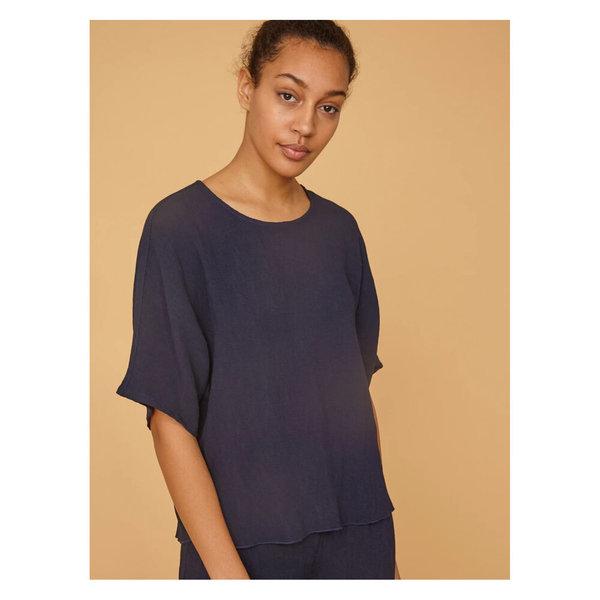 Raquel Allegra Oversized Shirt - Navy