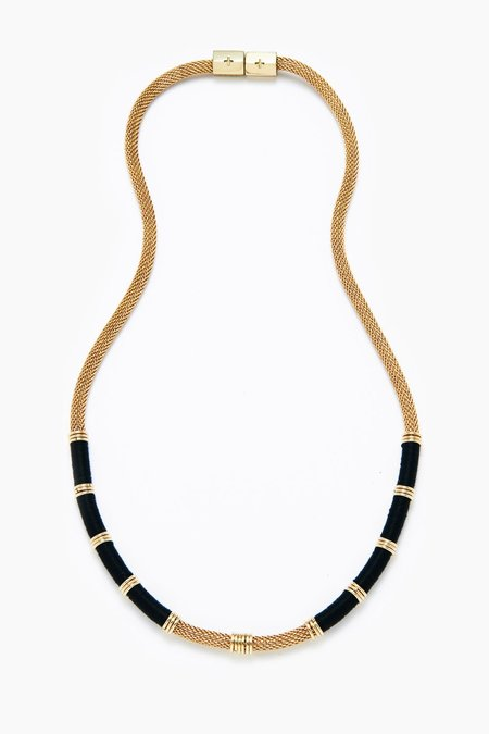 Holst + Lee Colorblock Mesh Necklace - Gold/Black