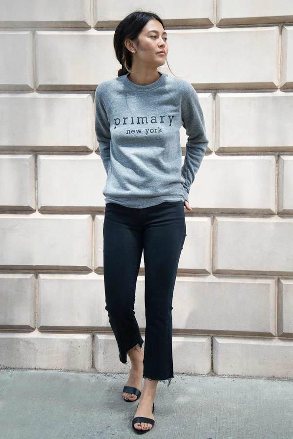 Primary New York Cotton Sweatshirt - Grey